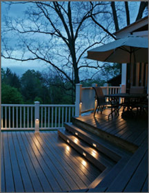 Outdoor Deck Lighting Helps Make Evening Entertainment Come to