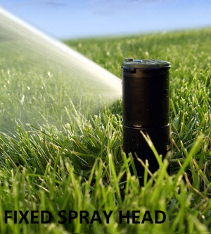 Second Place Goes To Fixed Spray Heads